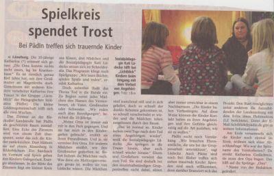 Landeszeitung, den 24.12.2008
