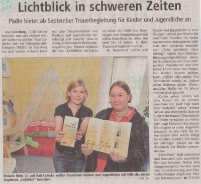 Landeszeitung, den 25.08.2008