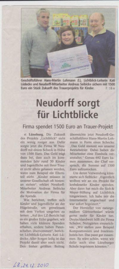 Landeszeitung, den 29.12.2010