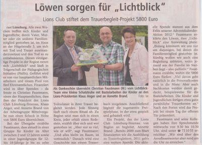 Landeszeitung, den 20.06.2013